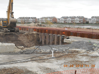 April 2014 - Contractor excavates along western portion of Kellogg St.