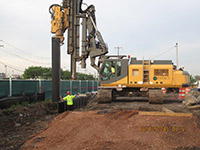 August 2015 - Installing sheet pile along Route 440 former city properties