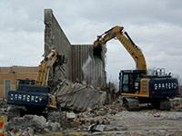 February 2015 - Demolishing incinerator trash pit
