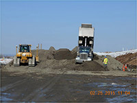 February 2015 - Stockpiling clean backfill material