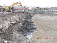 Janurary 2014 - Placing backfill material
