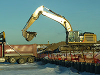 January 2015 - Removing soil for off-site disposal