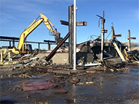 January 2015 - Continuing to demolish the offices in the southeast corner of the Waste Management garage
