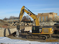 January 2016 - Breaking up former JCIA building pad
