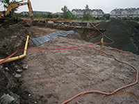 July 2014 - Excavation progress along Droyers Cove
