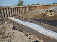 June 2014 - Placing backfill material