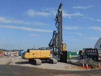 May 2014 - Installation of sheetpile on Kellogg St. properties