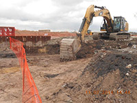 November 2014 - Beginning excavation along Droyers Cove