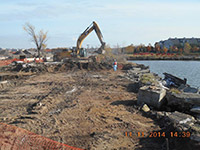 November 2014 - Excavating along Droyers Cove