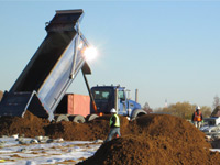 November 2015 - Unloading clean imported soils