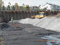 October 2014 - Backfilling with a geotextile