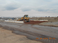 September 2014 - Constructing a new bermed area