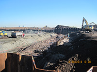 October 2014 - Excavation continues on Kellogg St. properties