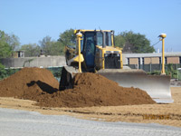 October 2016 - Grading imported clean fill on SA6 open space area