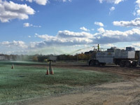 October 2016 - Hydroseeding along the eastern portion of SA6 open space area