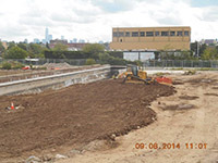 September 2014 - Compacting soil on Jersey City property
