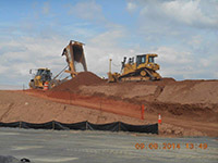 September 2014 - Compacting soil on Kellogg St. property