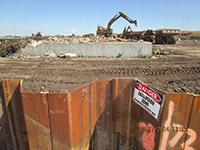 September 2014 - Demolishing a foundation on Kellogg St. property
